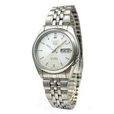 Seiko Men's SNK355K Seiko 5 Automatic Silver Dial Stainless Steel Watch - http://www.specialdaysgift.com/seiko-mens-snk355k-seiko-5-automatic-silver-dial-stainless-steel-watch/