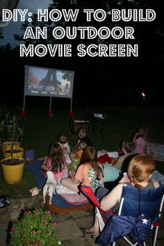 Build A Backyard Movie Theater • Lots of great Ideas  Tutorials! Including this step by step tutorial by 'wholesome mommy'.