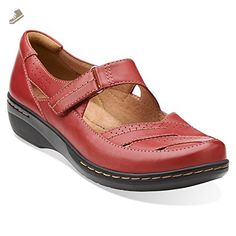 d8da1a89f67 Clarks Evianna Date Womens Red Leather 6-WIDE - Clarks pumps for women (  ·  Shoes ...