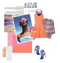 Color Pop by lisalockhart on Polyvore featuring Elizabeth and James, Charlotte Olympia, Linda Farrow and Le Specs