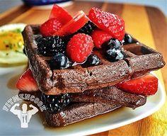 Dark Chocolate Gluten-free Protein Waffles