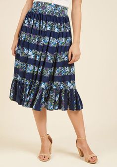 Collectif Come Out and Sway Midi Skirt