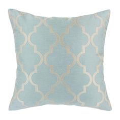 This pillow's pattern looks just like my pantry paint job. I wonder if I could pull off this moroccan pattern all over my house...you know, randomly.