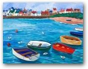 A Row of Boats, Elie Harbour SOLD  » Click to zoom ->
