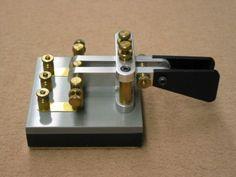 Handmade American Morse keys made by Houston Taylor (W0LPR) HT-1