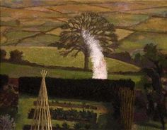 David Inshaw David Inshaw (born March is a British artist and painter, and was a founder member of the Brotherhood of Rurali. Contemporary Landscape, Landscape Art, Landscape Paintings, Bokashi, Country Scenes, Modern Landscaping, Source Of Inspiration, Figurative Art, Garden Art