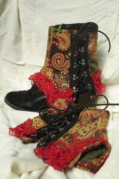 Brocade Short Boot Spats. $29.00, via Etsy.