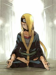 Deidara. It's rare we see him peaceful and relaxed like this.