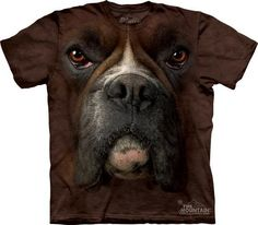 Boxer Face - : Gothic and Biker Gift and Clothing Store, Nemesis Now, Alchemy Gothic, Demonia footwear, alternative clothing Zebras, Biker, Steampunk, Boxer Love, Big Face, 3d T Shirts, Sports Shirts, German Shorthaired Pointer, Mountain Dogs