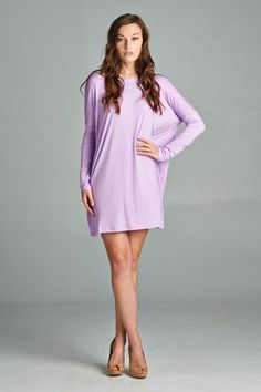 The popular Piko dress (D3738). Soft and comfortable. Great as a day time dress that can easily transition into night. Dress it up with colorful jewels or belt it for a more fitted look. Made in USA. Available in many different colors. Come check them out! Contemporary everyday wear. Stylish and comfortable. www.cherishusa.com www.fashiongo.net/Cherish