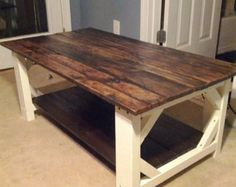 Handmade Farmhouse Style Coffee Table (Local Pickup or Delivery Offered)