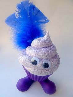 Fake Cupcake Faux Cupcake Critter Purple Feather by frankschick, $12.00