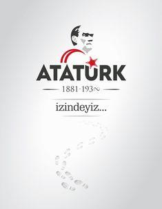 Vektörel Çizim | Mustafa Kemal Atatürk, İzindeyiz