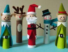 Holiday Crafts   Como verás quedan unos muñequitos muy simpáticos, originales ...