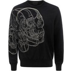 ALEXANDER MCQUEEN|Strickwaren|Sweatshirt mit aufgesticktem 3D-Skull