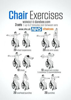 armchair exercises for the elderly an energy boosting routine for wheelchair users that helps to increase upper body strength and wheelchair exercises elderly Upper Body Exercises, Desk Exercises, Fitness Exercises, Arm Workouts, Workout Exercises, Activities For Elderly, Activities For Dementia Patients, Assisted Living Activities, Senior Activities