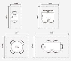 ダイニングの必要寸法例 Restaurant Booth, Restaurant Design, Dining Table Lighting, Space Architecture, Modern House Plans, House Layouts, Interior Design Tips, Dining Room Design, Office Interiors