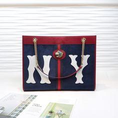 bb56e85f1a99 グッチ ラジャ ラージ トートバッグ-コピー ロイヤルブルー マットレザー NY刺繍 gucci 夏バッグ