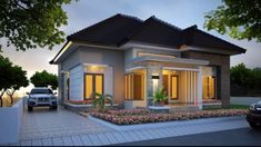 41 Simple Minimalist 1 Floor Model Homes - House Designs Contemporary House Plans, Modern House Design, Style At Home, Exterior Tradicional, Latest House Designs, Minimalist Home Interior, Minimalist House, Art Deco Home, Story House