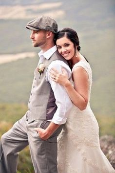 Another shot of waistcoat rolled up sleeves.  Initially I liked the idea of the flat cap, but now I think maybe not cause groom doesn't wear hats really.