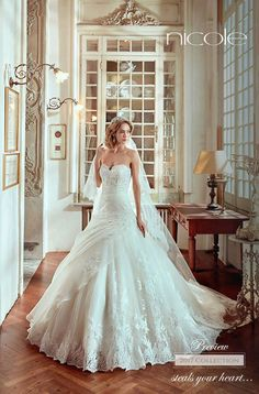 With plenty of elegance and an abundance of drama, Nicole Spose Wedding Dress Collection 2017 is filled with one breathtaking bridal gown after another. Lace Wedding Dress, Sweetheart Wedding Dress, Sexy Wedding Dresses, Cheap Wedding Dress, Wedding Gowns, A Line Bridal Gowns, Bridal Dresses Online, Collection 2017, Dress Collection