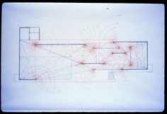 paul rudolph analytical drawings of mies' barcelona pavilion