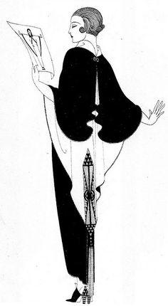 Erté - Illustrations - Mode - Robe de Soirée