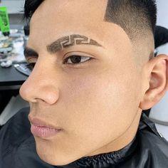 Hair Designs For Boys, Haircut Designs For Men, Trending Hairstyles For Men, Haircuts For Men, Eyebrow Cut, Faded Hair Color, Hair Tattoo Designs, Pompadour Fade, Eyebrow Design