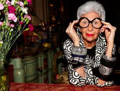 "Iris Apfel...""she's the only woman who can make a 22-year-old fashionista wish they were 90, have white hair and need concept glasses."""