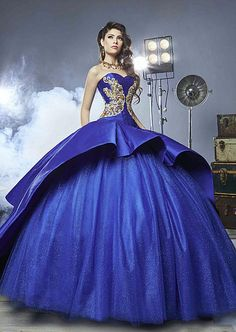 Find More Quinceanera Dresses Information about Elegant Gold And Royal Blue Quinceanera Dresses 2016 Sweetheart Golden Embroidery Long Train Ball Gown For 16 Years Dresses,High Quality gown accessories,China gown set Suppliers, Cheap gown bag from Queens' Dreaming Dresses Store on Aliexpress.com