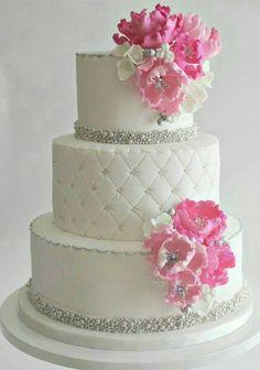 Romanticismo en esta tarta nupcial