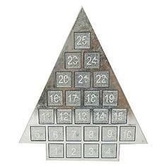 Threshold Silver Mirror Advent Calendar 14X12 Christmas Holiday Countdown NEW