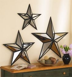 Mirrored Stars - The Lakeside Collection | Shop interior_design home | Kaboodle & Shining Star Mirror #25754 Artfully arranged mirrored panels sit ...