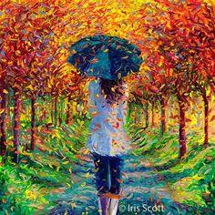 Maravillosas pinturas en oleo con los dedos por Iris Scott | FuriaMag | Arts Magazine