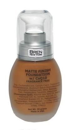 CoQ10 Foundation Shade Brun  Get an instant face-lift!  Contains Co-Enzyme Q10, an anti-aging ingredient that will minimize fine lines, smooth out wrinkles, and leave skin feeling youthful and luminous.. Provides a medium to full matte finish.  1 oz. Made in the USA $24.00 Now 50% Off Only $12.00
