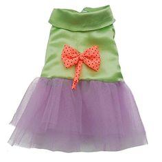 Amazon.com : Binmer(TM)Pet Dog Clothes Cat Puppy Dog Princess Bow Dress Lace Skirt Dog Tutu Dress Costume (SkyBlue, L) : Pet Supplies