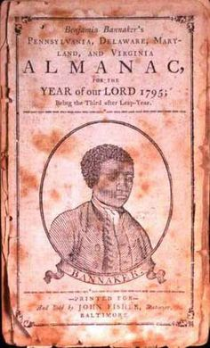 A portrait of Benjamin Banneker on the cover of his Farmers Almanac, circa 1795