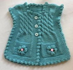 Discover thousands of images about Hermoso chaleco de bebe color turqueza con botines y cintillo.lace baby jacket knit with crochet accents from asian magazine found in russian site httpwwwliveinternetruusersbaby charts included - PIPicStatsThis Pin Knit Vest, Baby Cardigan, Baby Knitting Patterns, Hand Knitting, Girl Minion, Baby Girl Hats, Baby Boy, Summer Hats, Baby Sweaters