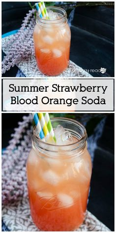 ... virgin, kid-friendly drink- Summer Strawberry Blood Orange Soda
