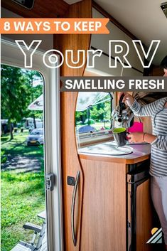 Whether you live in your RV fulltime or you're a weekend warrior, keeping the RV smelling fresh and clean throughout your trip is a challenge for RV living. Here are some ideas, tips, and hacks for keeping your space smelling good. Rv Camping Tips, Travel Trailer Camping, Camping Supplies, Camping Ideas, Camping Essentials, Travel Trailers, Rv Travel, Camper Trailers, Travel Trailer Living