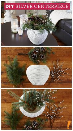 Silver & White Holiday Centerpiece