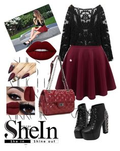 """Shein (lace blouse) "" by sabina1801 ❤ liked on Polyvore featuring Rika and Lime Crime"