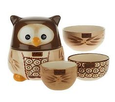 Temp-tations Old World Owl Set of 4 Nesting Measuring Cups