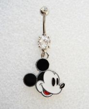 MICKEY MOUSE EARS DISNEY Navel Belly Button Ring BODY JEWELRY Piercing Minnie C5