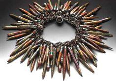 Venus Soberanes - Found Object Jewelry: The tribal art of Susan Lenart Kazmer Funky Jewelry, Recycled Jewelry, Jewelry Crafts, Jewelry Art, Handmade Jewelry, Jewelry Design, Unique Jewelry, Recycled Art, Jewellery Box
