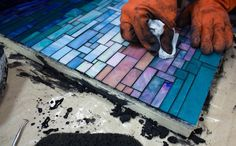 Learn to grout mosaic art