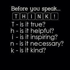 Great reminder before speaking