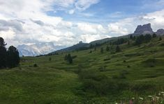 Up towards Passo di Giau (I think)