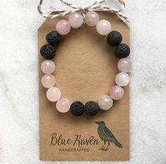 Rose+Quartz+/+Essential+Oil+Diffuser+Bracelet+/+Lava+Stones+/+Aromatherapy