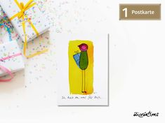 Gerhard, Funny Character, Poster, Characters, Etsy Shop, Illustration, Comic Drawing, Postcards, Yellow